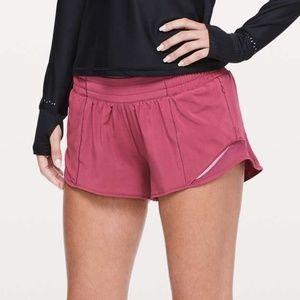 EUC Lululemon Hotty Hot Shorts 6 Violet Red RARE